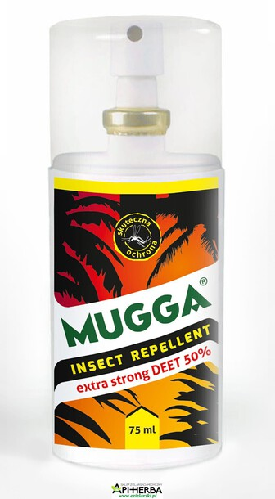 Mugga Spray STRONG 50% DEET 75ml. na komary i kleszcze. Od 18 roku życia. (1)