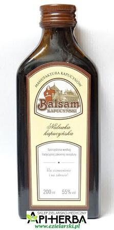 Balsam Kapucyński - Nalewka Kapucyńska 200 ml. z kroplomierzem (1)