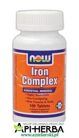 Iron Complex 100 tabletek. Now Foods (1)